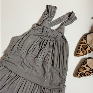 Gray jersey dress - super cute!